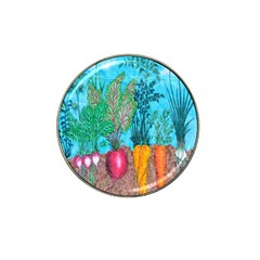 Mural Displaying Array Of Garden Vegetables Hat Clip Ball Marker (10 pack)