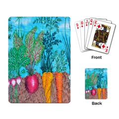 Mural Displaying Array Of Garden Vegetables Playing Card