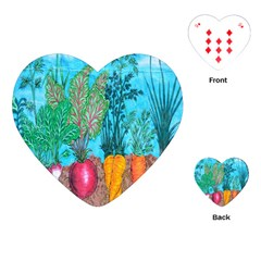 Mural Displaying Array Of Garden Vegetables Playing Cards (Heart)