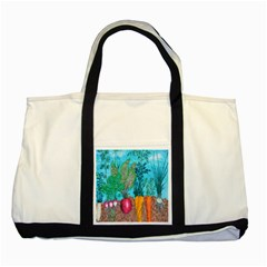 Mural Displaying Array Of Garden Vegetables Two Tone Tote Bag