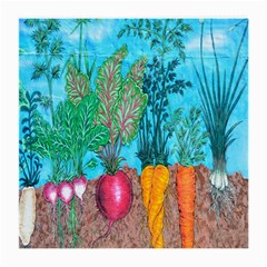 Mural Displaying Array Of Garden Vegetables Medium Glasses Cloth
