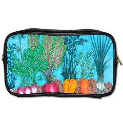Mural Displaying Array Of Garden Vegetables Toiletries Bags 2 Side