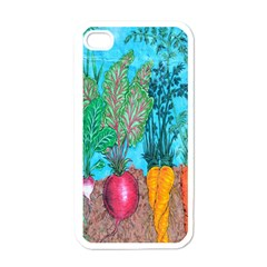 Mural Displaying Array Of Garden Vegetables Apple Iphone 4 Case (white)