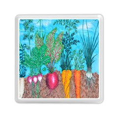 Mural Displaying Array Of Garden Vegetables Memory Card Reader (square)