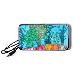 Mural Displaying Array Of Garden Vegetables Portable Speaker (black)