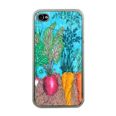 Mural Displaying Array Of Garden Vegetables Apple Iphone 4 Case (clear)