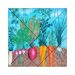 Mural Displaying Array Of Garden Vegetables Acrylic Tangram Puzzle (6  x 6 )