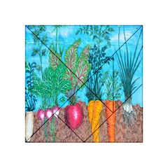 Mural Displaying Array Of Garden Vegetables Acrylic Tangram Puzzle (4  x 4 )