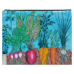 Mural Displaying Array Of Garden Vegetables Cosmetic Bag (XXXL)