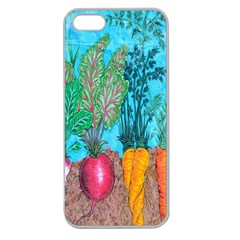 Mural Displaying Array Of Garden Vegetables Apple Seamless Iphone 5 Case (clear)