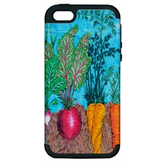 Mural Displaying Array Of Garden Vegetables Apple iPhone 5 Hardshell Case (PC+Silicone)