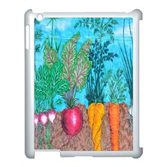Mural Displaying Array Of Garden Vegetables Apple Ipad 3/4 Case (white)