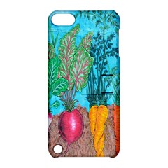 Mural Displaying Array Of Garden Vegetables Apple iPod Touch 5 Hardshell Case with Stand