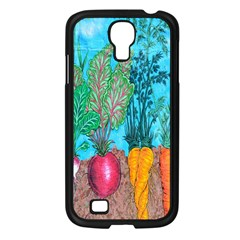 Mural Displaying Array Of Garden Vegetables Samsung Galaxy S4 I9500/ I9505 Case (Black)