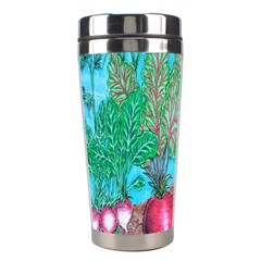 Mural Displaying Array Of Garden Vegetables Stainless Steel Travel Tumblers
