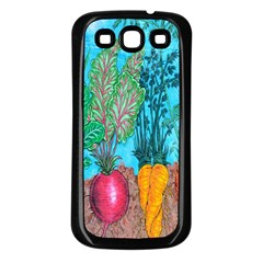Mural Displaying Array Of Garden Vegetables Samsung Galaxy S3 Back Case (Black)