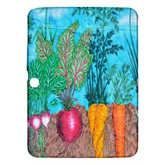 Mural Displaying Array Of Garden Vegetables Samsung Galaxy Tab 3 (10 1 ) P5200 Hardshell Case