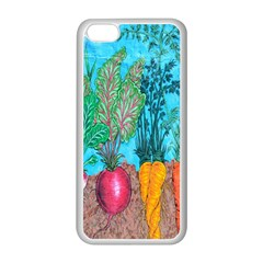 Mural Displaying Array Of Garden Vegetables Apple iPhone 5C Seamless Case (White)