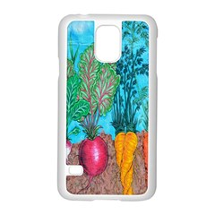 Mural Displaying Array Of Garden Vegetables Samsung Galaxy S5 Case (White)