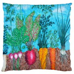 Mural Displaying Array Of Garden Vegetables Large Flano Cushion Case (One Side)