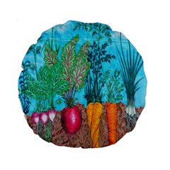 Mural Displaying Array Of Garden Vegetables Standard 15  Premium Flano Round Cushions