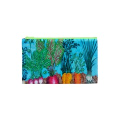 Mural Displaying Array Of Garden Vegetables Cosmetic Bag (XS)