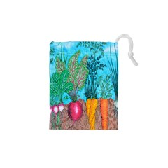 Mural Displaying Array Of Garden Vegetables Drawstring Pouches (XS)