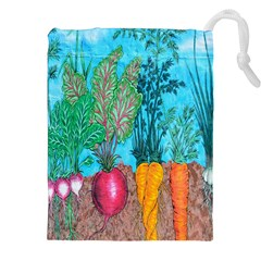Mural Displaying Array Of Garden Vegetables Drawstring Pouches (xxl)