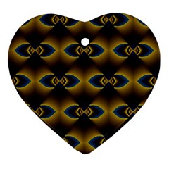 Fractal Multicolored Background Ornament (heart)