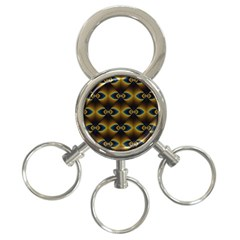 Fractal Multicolored Background 3 Ring Key Chains