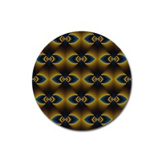 Fractal Multicolored Background Magnet 3  (Round)