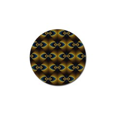 Fractal Multicolored Background Golf Ball Marker (4 pack)