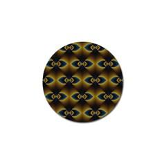 Fractal Multicolored Background Golf Ball Marker (10 Pack)