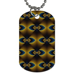 Fractal Multicolored Background Dog Tag (two Sides)
