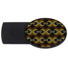 Fractal Multicolored Background USB Flash Drive Oval (2 GB)