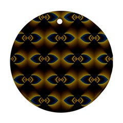 Fractal Multicolored Background Round Ornament (Two Sides)