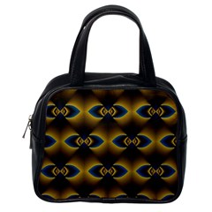 Fractal Multicolored Background Classic Handbags (One Side)