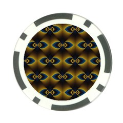 Fractal Multicolored Background Poker Chip Card Guard (10 Pack)