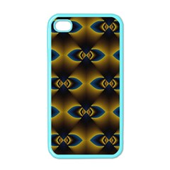 Fractal Multicolored Background Apple iPhone 4 Case (Color)