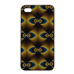 Fractal Multicolored Background Apple iPhone 4/4s Seamless Case (Black)