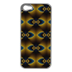 Fractal Multicolored Background Apple iPhone 5 Case (Silver)