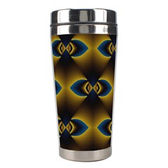 Fractal Multicolored Background Stainless Steel Travel Tumblers