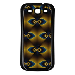 Fractal Multicolored Background Samsung Galaxy S3 Back Case (Black)