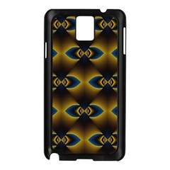 Fractal Multicolored Background Samsung Galaxy Note 3 N9005 Case (Black)