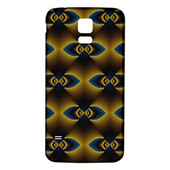 Fractal Multicolored Background Samsung Galaxy S5 Back Case (White)