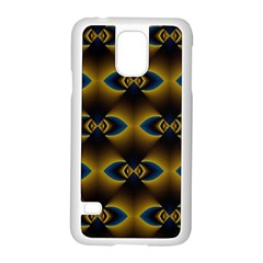 Fractal Multicolored Background Samsung Galaxy S5 Case (White)