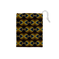 Fractal Multicolored Background Drawstring Pouches (small)