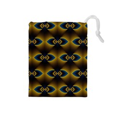 Fractal Multicolored Background Drawstring Pouches (Medium)