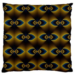 Fractal Multicolored Background Large Flano Cushion Case (one Side)