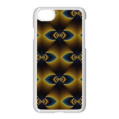 Fractal Multicolored Background Apple iPhone 7 Seamless Case (White)